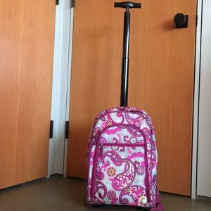 Luggage with rollers and Backpack straps